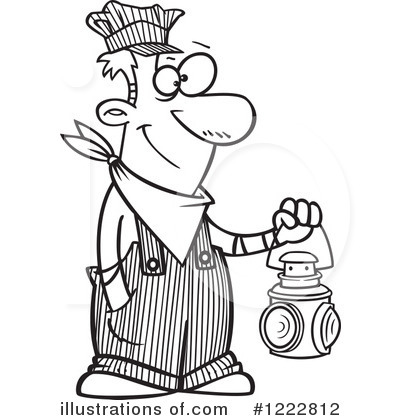 Train Engineer Clipart 1222812 Illustration By Toonaday