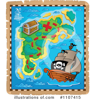 Treasure Map Clipart #1107415 - Illustration by visekart
