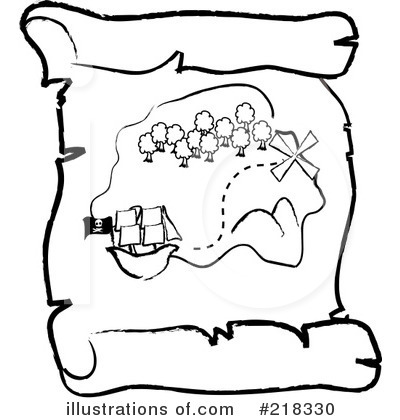 X Marks The Spot Coloring Page Treasure Map Clipart #...