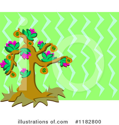 Money Tree Clipart #1182800 by bpearth