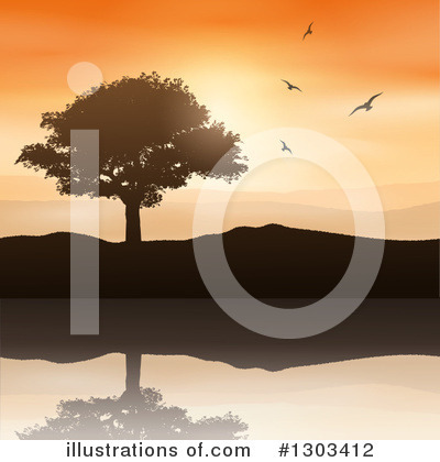 Mountains Clipart #1303412 by KJ Pargeter