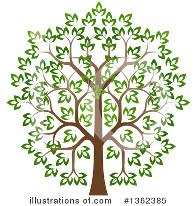 Tree Clipart #1362385 by AtStockIllustration