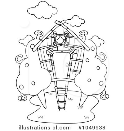 Tree House Clipart #1049938 - Illustration by BNP Design Studio