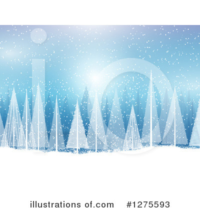 Christmas Background Clipart #1275593 by KJ Pargeter