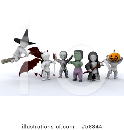 Royalty-Free (RF) Trick Or Treat Clipart Illustration by KJ Pargeter - Stock Sample #58344