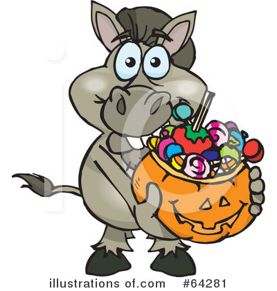 Donkey Clipart #64281 by Dennis Holmes Designs