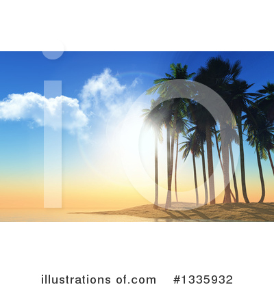 Palm Trees Clipart #1335932 by KJ Pargeter