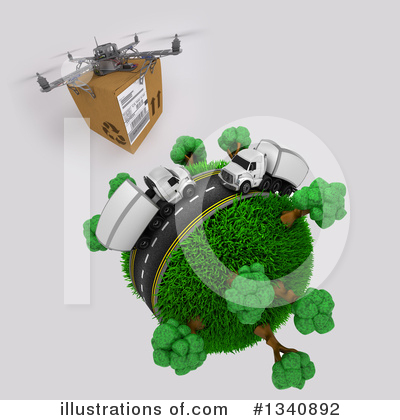 Drone Clipart #1340892 by KJ Pargeter