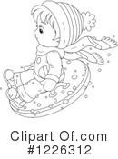 Snow Tubing Clipart #1271792 - Illustration by BNP Design Studio