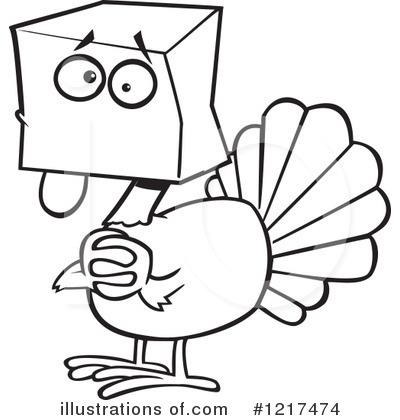 turkey clipart 1217474 illustration by toonaday rh illustrationsof com thanksgiving turkey clipart black and white turkey head clipart black and white