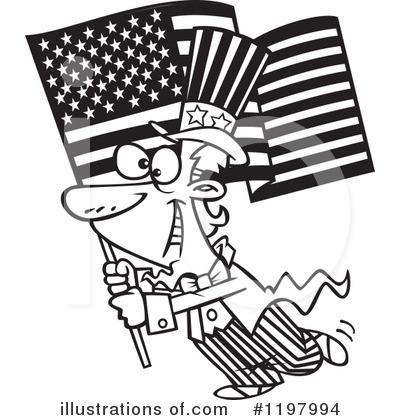 American Flag Clipart #1197994 by toonaday