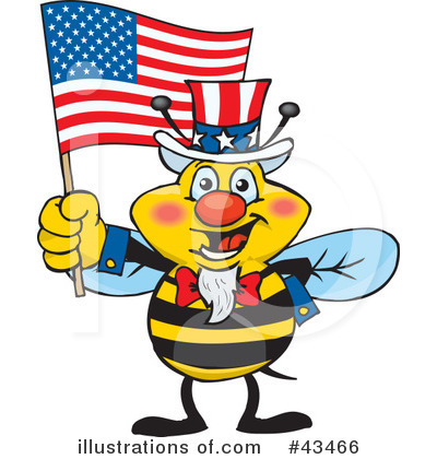 Bee Clipart #43466 by Dennis Holmes Designs