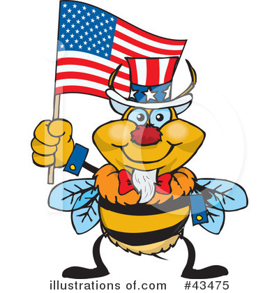 Bee Clipart #43475 by Dennis Holmes Designs