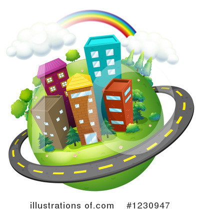 Royalty-Free (RF) Urban Clipart Illustration by Graphics RF - Stock Sample #1230947