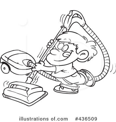 Vacuum Clipart #436509 - Illustration by toonaday Vacuum Coloring Pages