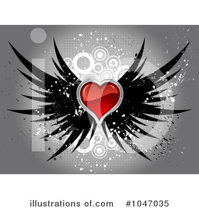 Winged Heart Clipart #1047035 by KJ Pargeter