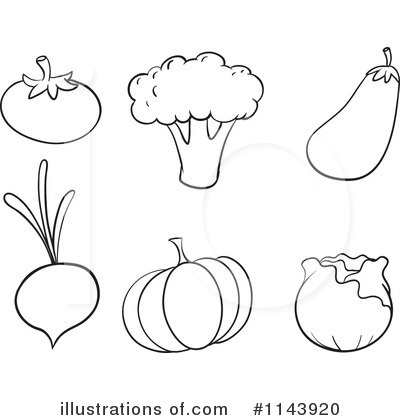 Veggies Clipart #1143920 - Illustration by Graphics RF