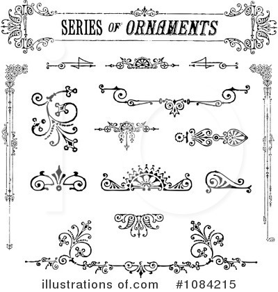 Victorian Design Elements victorian design elements clipart #1084215 - illustration