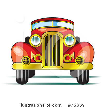 Vintage Car Clipart #75669 - Illustration by Lal Perera