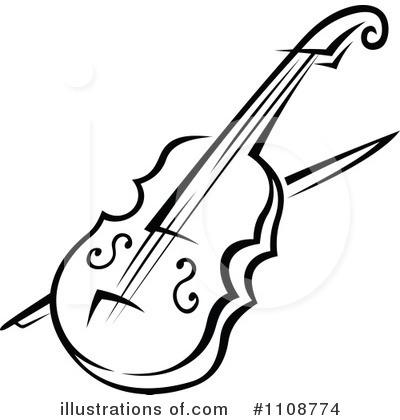 violin clipart #1108774 - illustrationvector tradition sm
