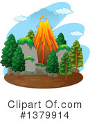 Volcano Clipart #1379914 by Graphics RF