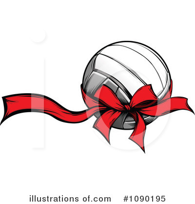 Volleyball Clipart #1090195 by Chromaco