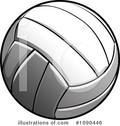 Volleyball Clipart #1090446 by Chromaco