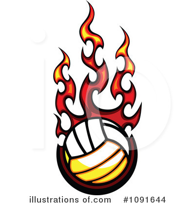 Volleyball Clipart #1091644 by Chromaco