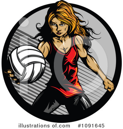Royalty-Free (RF) Volleyball Clipart Illustration by Chromaco - Stock Sample #1091645