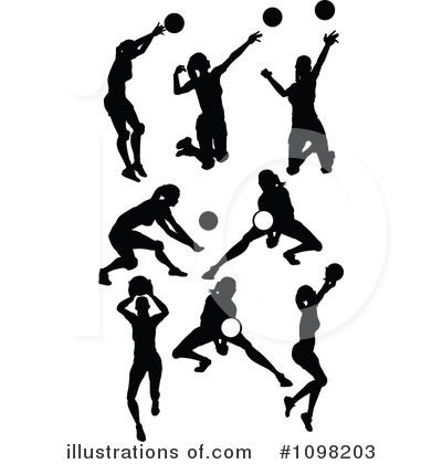 Volleyball Clipart #1098203 - Illustration by Chromaco