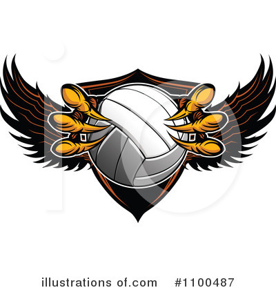 Volleyball Clipart #1100487 by Chromaco