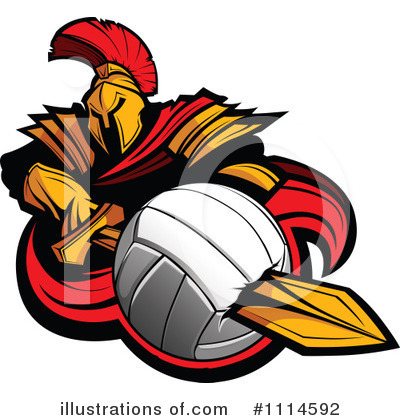 Volleyball Clipart #1114592 by Chromaco