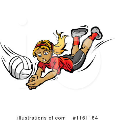 Volleyball Clipart #1161164 by Chromaco