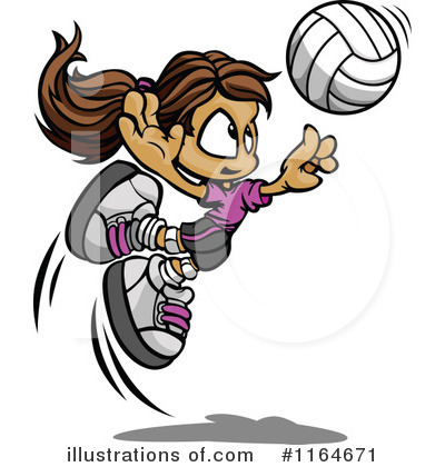 Volleyball Clipart #1164671 by Chromaco