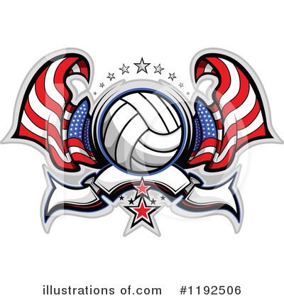 Volleyball Clipart #1192506 by Chromaco
