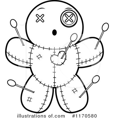Royalty Free RF Voodoo Doll Clipart Illustration By Cory Thoman