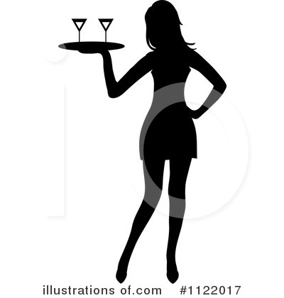Waitress Clipart #1122017 by Pams Clipart