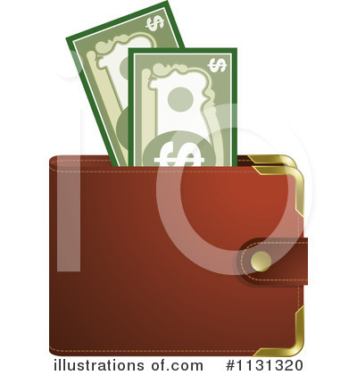 Wallet Clipart #1131320 - Illustration by Lal Perera