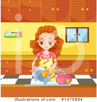 Washing Dishes Clipart #1475994 by Graphics RF
