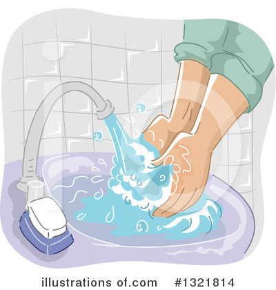 Hand Washing Clipart #1321814 by BNP Design Studio