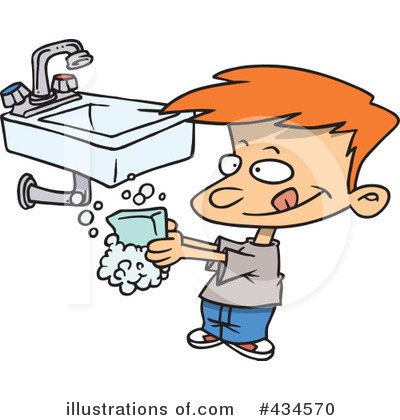 Hand Washing Clipart #434570 by toonaday