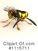 Wasp Clipart #1115711 by Leo Blanchette