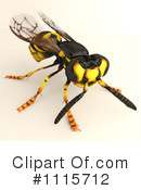 Wasp Clipart #1115712 by Leo Blanchette