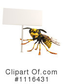 Wasp Clipart #1116431 by Leo Blanchette