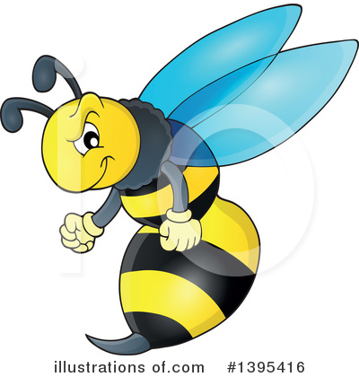 Bee Clipart #1395416 by visekart