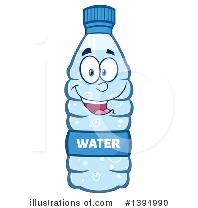 Water Bottle Clipart #1394990 - Illustration by Hit Toon