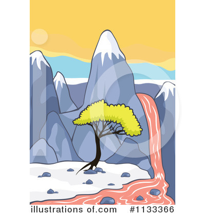 Waterfall Clipart #1133366 - Illustration by colematt