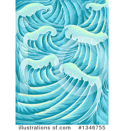 Waves Clipart #1346755 by BNP Design Studio