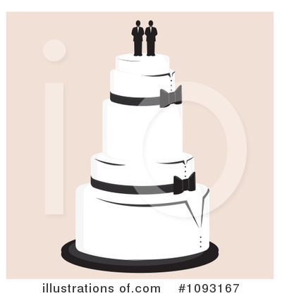Wedding Cake Clipart #1093167 - Illustration by Randomway