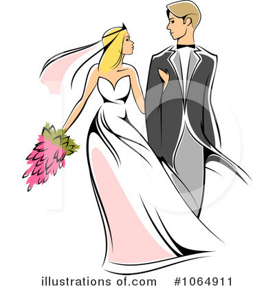 Bride Clipart #1064911 by Vector Tradition SM